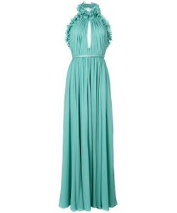Elie Saab | Ruffle Trim Halter Maxi Dress