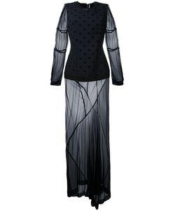 Comme Des Garcons | Платье С Прозрачными Вставками Vintage