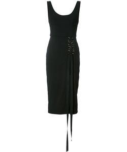 Rebecca Vallance | Billie Laced Midi Dress 6 Polyester/Spandex/Elastane