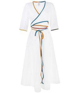 Rosie Assoulin | Short Sleeve Wrap Dress Xs Cotton