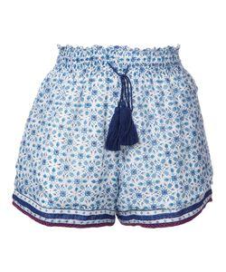 TALITHA | Elasticated Waistband Tassel Shorts Medium Silk/Cotton
