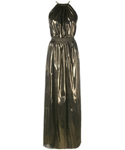 Just Cavalli   Foil Halter Neck Dress