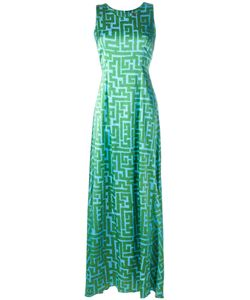 Ultràchic | Printed Maxi Dress 42 Silk/Spandex/Elastane