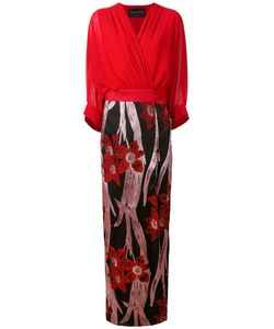 Christian Pellizzari | Jacquard Wrap Dress Silk/Polyamide/Acetate/Metallized