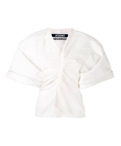 JACQUEMUS | Wrap Front Kimono Sleeve Top
