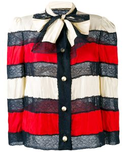 Gucci   Striped Bow Jacket 44