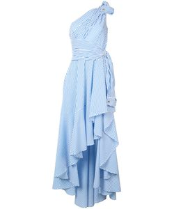 Talbot Runhof   Striped Asymmetric Dress