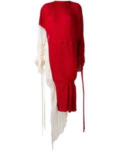 Marni | Плиссированное Платье С Талией На Шнурке