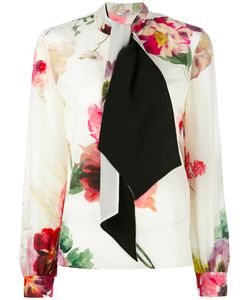Lanvin | Neck Tie Blouse 40 Silk