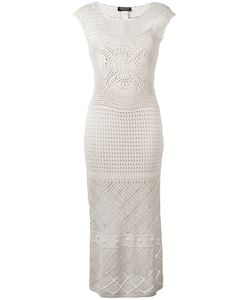 Twin-set | Perforated Detail Dress Large Cotton