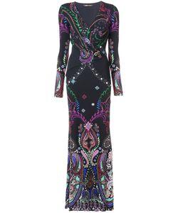 Roberto Cavalli | Приталенное Платье С Узором Пейсли