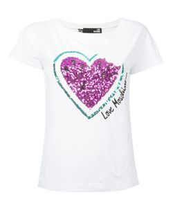 Love Moschino | Sequinned Heart T-Shirt
