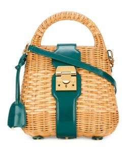 Mark Cross | Mini Manray Satchel Leather/Straw