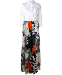 SARA ROKA | Print Contrast Dress 42 Cotton/Polyamide/Spandex/Elastane