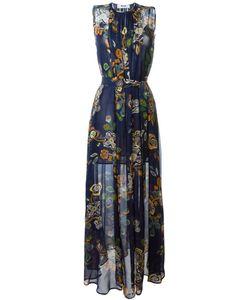 MSGM | Платье С Цветочным Принтом И Поясом