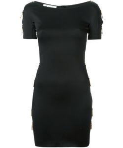 Moschino | Короткое Платье С Вырезанными Деталями Сбоку