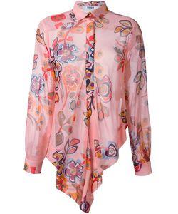 MSGM | Асимметричная Рубашка С Цветочным Принтом