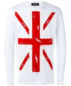 Dsquared2   Union Jack Appliqué T-Shirt