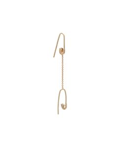 LAUREN KLASSEN | Safety Pin Chain Earring