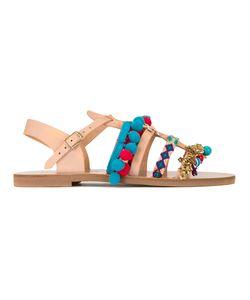 ELINA LINARDAKI | Maude Sandals 37 Cotton/Calf Leather