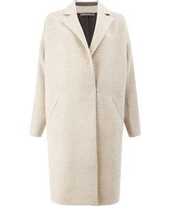 32 PARADIS SPRUNG FRERES | Checked Coat Women Silk/Cashmere/Lambs