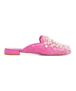 Natasha Zinko | Pearl And Velvet Slippers Size 38