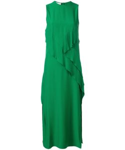 Cedric Charlier | Cédric Charlier Front Panel Sleeveless Dress 40 Rayon