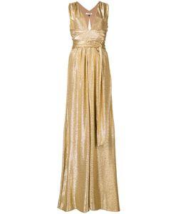 Halston Heritage | High Shine Long Dress Size Xs