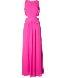 Nicole Miller | Cut-Off Detail Long Dress 4 Silk/Polyester
