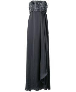 Armani Collezioni | Вечернее Платье С Драпировкой Без Бретелек