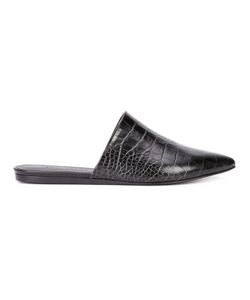 Jenni Kayne | Crocodile Effect Mules 40 Crocodile Leather/Leather