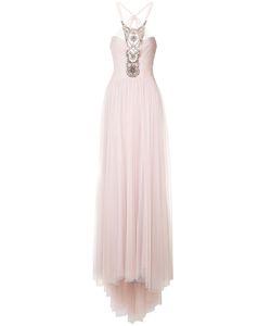 Monique Lhuillier   Платье С Декором Из Бусин