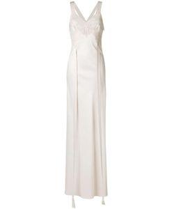 Givenchy | Lace Panel Evening Dress 36 Silk/Cotton/Polyamide/Wool