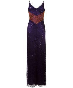 Nina Ricci | Sequin Embellished Spaghetti Strap Dress 36