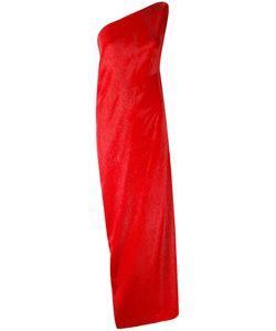 Maison Rabih Kayrouz   Stripe One Shoulder Gown