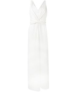Armani Collezioni | V-Neck Long Dress 40 Polyester