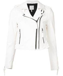 Joie | Cropped Biker Jacket Small Lamb Skin/Cotton
