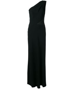Alberta Ferretti | One-Shoulder Slit Panel Gown 40 Acetate/Rayon/Silk