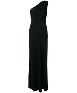 Alberta Ferretti | One-Shoulder Slit Panel Gown 40 Acetate/Rayon/Silk