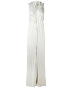Rick Owens | V-Neck Long Dress 40 Silk