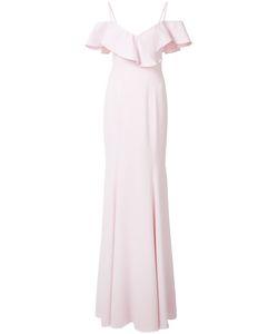 Jay Godfrey | Ruffled Off-Shoulders Gown 4 Polyester/Spandex/Elastane