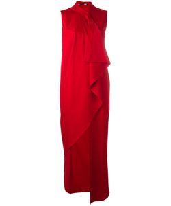 Love Moschino | Draped Maxi Dress 40 Viscose/Polyester/Spandex/Elastane