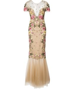 Marchesa Notte | Embroidery Fitted Gown
