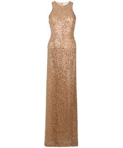 GALVAN | Вышитое Пайетками Платье В Пол