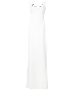 David Koma | Embroide Metal Detail Gown 12 Acrylic/Viscose