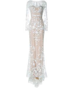 Zuhair Murad | Вечернее Платье Со Шлейфом И Блестящей Отделкой