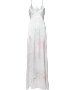 GALVAN | V-Neck Gown 38 Silk/Triacetate/Recycled Polyester