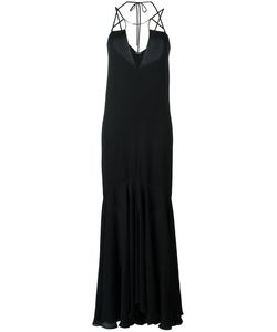 Plein Sud | Deep V-Neck Gown 38 Silk