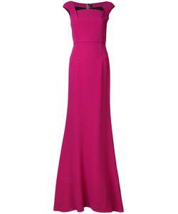 Roland Mouret | Long Evening Dress 10 Viscose/Acetate/Spandex/Elastane
