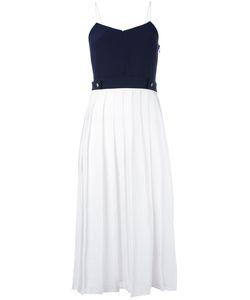 Victoria, Victoria Beckham | Плиссированное Платье С Контрастными Панелями
